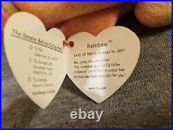 Rare AUTHENTIC Retired Ty Beanie Baby Rainbow with Tag Errors! SALE