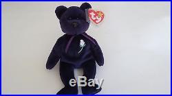 Rare Beanie Baby 1997 Princess Diana Pvc China Ty Memoral Fund