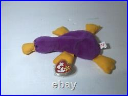 Rare Beanie Baby Patti the Platypus 1993 Mint Condition with Tag Errors