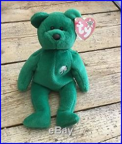 Rare Erin Ty Beanie Baby Excellent Condition -Underinked Swing Tag (Red)
