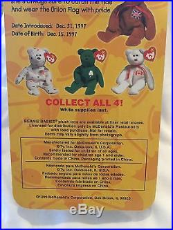 Rare Errors Britannia The Bear Nib Ty Beanie Babies Ronald Mcdonald Charities