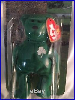 76933ec4a4e Rare Errors Nib Erin The Bear Ty Beanie Babies Plush Ronald Mcdonald  Charities
