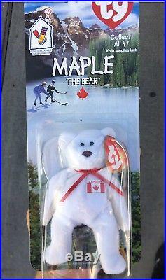 Rare Errors Nib Maple The Bear Ty Beanie Babies Plush Ronald Mcdonald  Charities 6188f0404d3