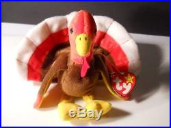 Rare Gobbles Ty Elite Beanie Baby 1996 Turkey Retired