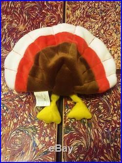 Rare Gobbles Ty Errors Extra Tag Elite Beanie Baby 1996 Pvc Turkey Retired Cool