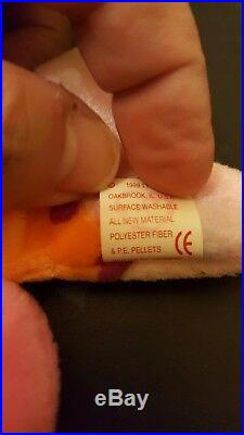 Rare Lips Ty Beanie Baby with Tag Errors, MWMT-Museum Quality