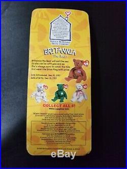 Rare Mcdonalds TY Beanie Baby Britannia The Bear