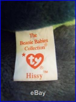 Rare Original Hissy Pvc Pellets Retired 1997 Ty Beanie Baby Stunning