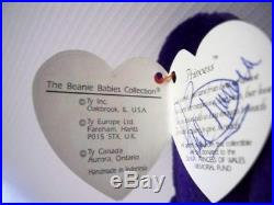 Rare PRINCESS DIANA Indonesian Beanie Baby personally signed by Paul Burrell RVM