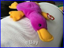 Rare TY BEANIE BABY ORIGINAL 1993 PATTI THE PLATYPUS Style 4025