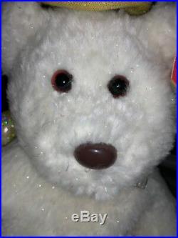 Rare Ty Beanie Babies Buddies Buddy Halo II Sparkle Bear Tag Errors