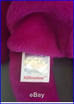 Rare Ty Beanie Babies Millennium (Millenium) Error, Mint, Limited Tag 1999