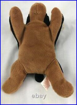 Rare Ty Beanie Baby Babies 1996 Doby Doberman Dog Errors Pvc Pellets Retired