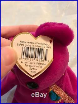 Rare Ty Beanie Baby Millennium Bear (errors)