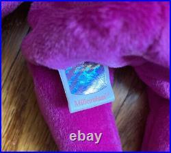 Rare Ty Beanie Baby Millennium/Millenium the Bear Retired With Errors 1999
