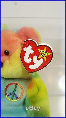 Rare Ty Beanie Baby Peace Bear Mwmt Rare Beanie Babies