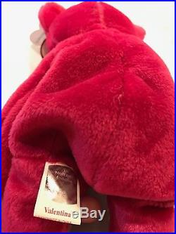 Rare Ty Beanie Baby Valentina Bear (1998) MWMT