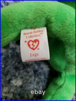 Rare Ty Original Beanie Baby Legs 1993 Mint Condition Multiple Tag Errors
