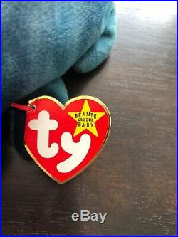 Rare Ty Original Beanie Baby Rainbow 1997 Retired W TRUE Errors story Chameleon