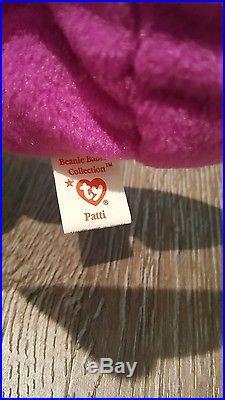 Rare Ty Patti Platypus Beanie Babies Style 4025 PVC Pellets 1993