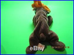 Rare Ty Retired Beanie Baby Chocolate 1993 Nwt Tag Errors