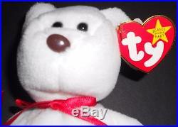 Rare Ty Valentino Beanie Baby Bear With 17 Errors Mint New Rare Beanie Babies