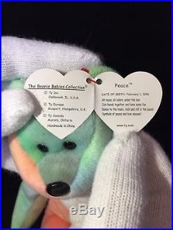 Rare beanie baby, PEACE, retired, TY rare, mint