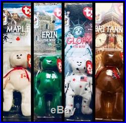 Rare set 1993 McDonalds Ty Beanie Baby WithRare Errors (1993 & OakBrook)
