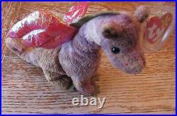 Rare ty, Ty Scorch The Dragon Beanie Baby, Multiple Hang Tag Errors