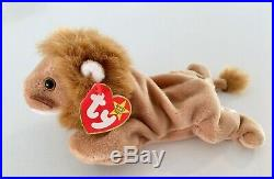 Retired 1996 Ty Beanie Baby Roary With Multiple Tag Errors Origiinal Rare