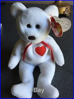 Retired TY Very Rare Beanie Baby Valentino with several errors