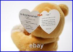 Retired Ty Beanie Baby Hope the Praying Bear (1998) Rare Tag Errors (MINT)