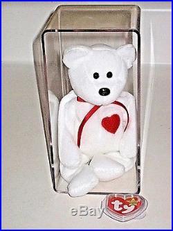 Retired Ty Beanie Baby Valentino Bear Original 4058 PVC Errors 1993 1994 Rare