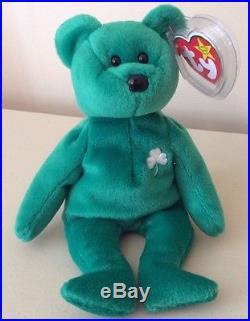 Retired Very Rare Ty Beanie Baby Irish Erin Shamrock Handmade China 1997 #400