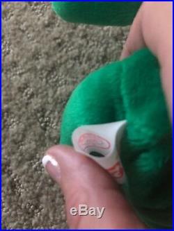Retired Very Rare Ty Beanie Baby Irish Erin Shamrock Handmade China 1997 #405