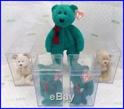 Super Rare Large Wallace15/ 4pc 9 2 Wallace, 1Cashew, 1Huggy, Ty Beanie Babies