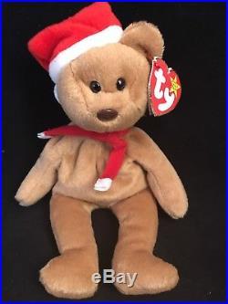 TEDDY (1997) Ty BeanieBaby Bear. PVC. AUTHENTICATED/Rare/Retired