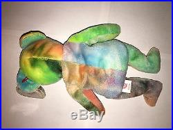 TY 1993 Garcia the Bear the Beanie Baby Beautiful Colors NEW Old Stock RARE