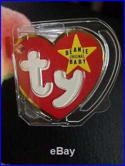 TY 1993 RARE Garcia the Bear Beanie Baby NEW Old Stock