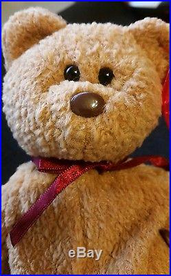 5162a140389 ty-beanie-baby-034-curly-034-bear-retired-with-tag-errors-rare ...