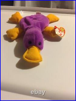 TY BEANIE BABY 1993 Patti the Platypus Collector Rare w Tag Retired PVC 1965 KR
