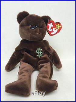 Ty Billionaire Bear Beanie Baby! Signed! Super Rare In Perfect New Shape