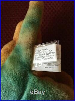 TY Beanie Babie STEG ULTRA RARE NEW PVC 1st GEN Collectors Item Tag Rarities