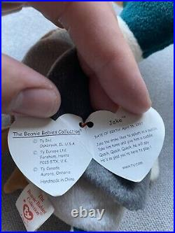 TY Beanie Babies 1997 1998 Jake the Duck Retired Rare Errors Stamp Tag #453