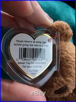 TY Beanie Babies Baby Curly Bear Very Rare With Many Errors (O. B. O.)