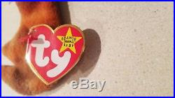 TY Beanie Babies CLAUDE the Crab & PEACE with tag errors 1996 RARE RETIRED