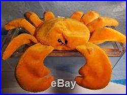 TY Beanie Babies DIGGER the CRAB RARE 1st Gen Tush Tag PVC Best Holiday Deals