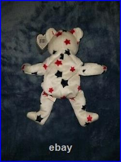 TY Beanie Babies Glory the Bear 1997 RARE with Tag Errors Red Stamp #405