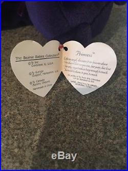 TY Beanie Babies Princess Diana Memorial 1997 Very Rare Beanie 4th Generation