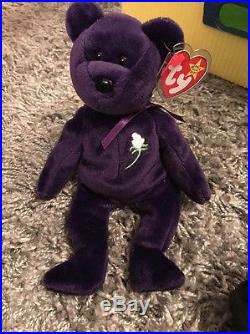 TY Beanie Babies Princess RARE 1997 Made In Indonesia P. E Pellets TAGS Attached